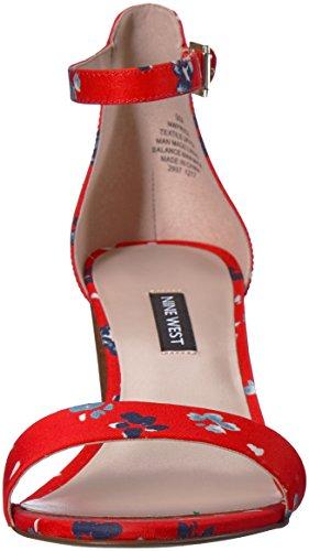 Tessuto Pruce Donne Ovest Nove Tessuto Delle Tacco Multi Sandalo Rosso 1PqRn1Ux