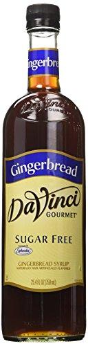 (Da Vinci Gourmet Syrups Sugar Free Gingerbread Syrup with Splenda 750 ml Bottle)