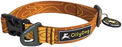 OllyDog Flagstaff Dog Collar, Strong and Washable Webbing Collar, with Lightweight Side-Release Buckle