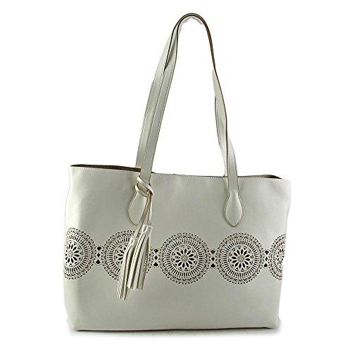 Buco SUNFLOWER TOTE Femmes Blanc Sac shopping