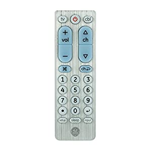 GE 33701 2-Device Big Button Universal Remote Control, Brushed Nickel