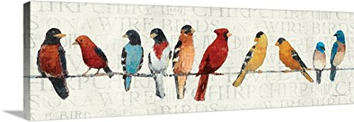 Avery Tillmon Premium Thick-Wrap Canvas Wall Art Print entitled The Usual Suspects - Birds on a Wire 60