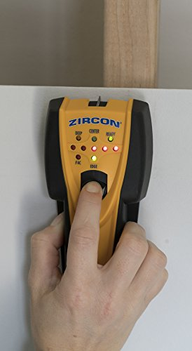 Zircon SS 70 StudSensor Center-Finding Stud Finder with WireWarning Detection, Patented SpotLite Pointing System and Built-In Erasable Wall Marker