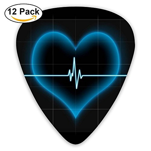 Funny Light Valentine's Day Love Bass Thin Heavy Medium Acoustic Guitar Picks Kids 12 Packs Cigar Box Guitar