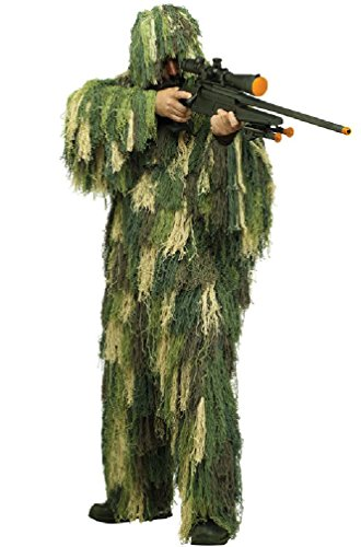 8eighteen Military Spy Hunter Sharpshooter Ghillie Suit Adult Costume (Ninja Sharp Feathers compare prices)