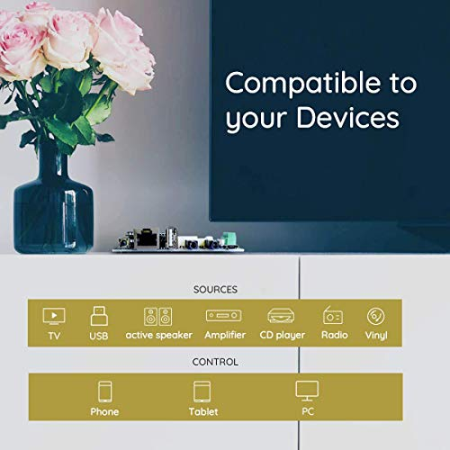Upgrade Your Speakers Wireless, Multiroom Stereo Receiver Board Package-Up2stream Pro V3X2+Up2stream Mini V3