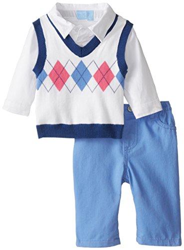 The Children's Place Baby-Boys Newborn Sweater Vest and Pants Set, Iris Field, 9-12 Months