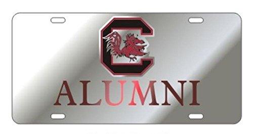 SOUTH CAROLINA GAMECOCKS Laser Cut Inlaid Mirrored Silver ALUMNI Plate ()