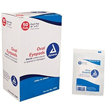 Dynarex Corporation (n) Sterile Oval Eyepad Sterile 2 5/8 X 1 5/8 50 Pouches/ Bx Curity Eye Pads Box