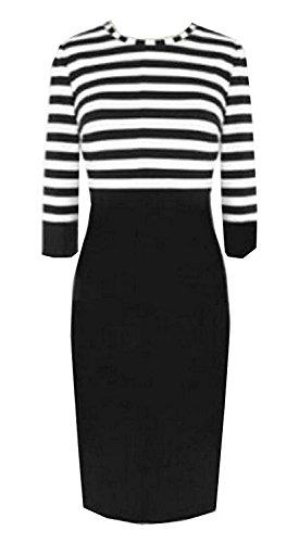 Mistere Ander Popular Women's Classic Sexy Slim Elegant Tunic Top Dress Black3X Plus