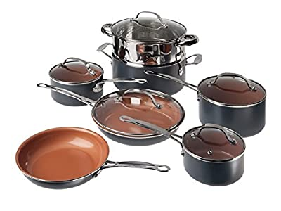 Gotham Steel 10-Piece Kitchen Nonstick Frying Pan and Cookware Set