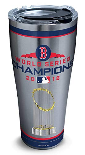 (Tervis 1316126 MLB Boston Red Sox 2018 World Series Champions Insulated Tumbler with Clear and Black Hammer Lid, 30oz Stainless Steel,)