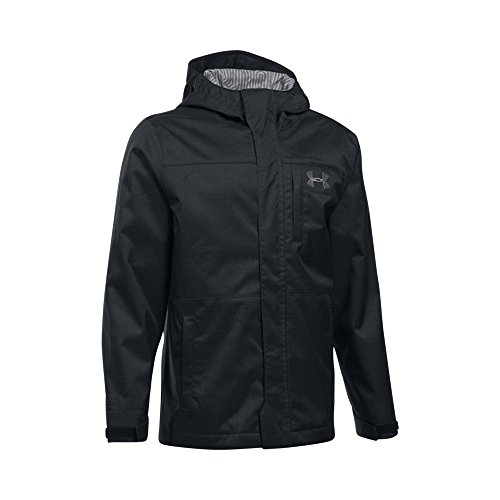 Under Armour Boys' Storm Wildwood 3-in-1 Jacket, Black/Graphite, Youth Medium by Under Armour