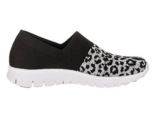 Skechers Donna Brillante Idea - Su Bordo Scarpa Casual Nero / Grigio