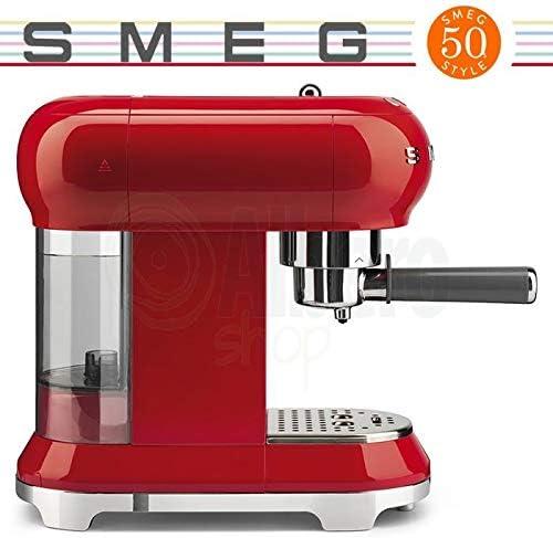 Smeg - Juego de 2 tazas de café y tostadora, color rojo: Amazon.es ...