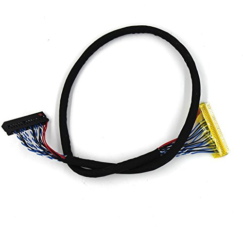 - VSDISPLAY 400mm LVDS Cable FIX 30PIN for 15~19inch 2ch 6bit LED Backlight LCD Panel