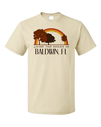 Living the Dream in Baldwin, FL | Retro Unisex T-shirt