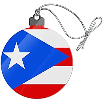 Graphics and More Puerto Rico Country Flag Acrylic Christmas Tree Holiday  Ornament - Amazon.com: NEONBLOND Christmas Decoration Greetings From Puerto