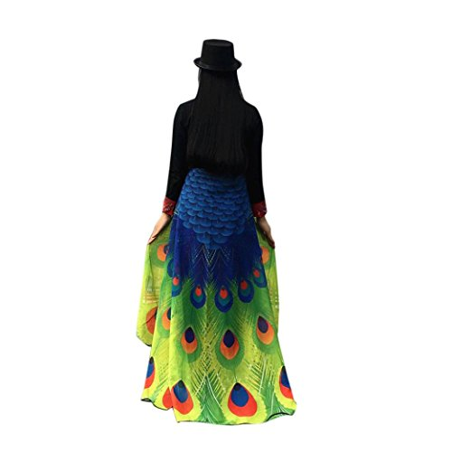 Hemlock Peacock Wings Shawl 2018 Butterfly Wings Shawl Fairy Cape Wrap Scarf Halloween Party Shawl Costume (Green) -