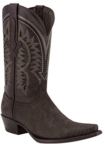 Texas Legacy - Mens Brown Lizard Western Wear Cowboy Boots Pattern Leather Snip Toe 9.5 D(M) US