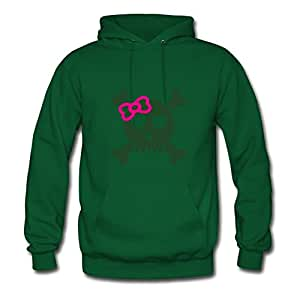 Female_skull__f2 Painting Custom : X-large Womenhoody Green- Made In Good Quality.
