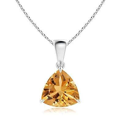 Angara Citrine Necklace Pendant in Platinum wJgg4x