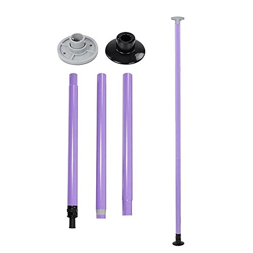 GHP 2'' Diamater 220.46Lbs-Capacity Height Adjustable Pink Steel & ABS Dance Pole Kit by Globe House Products