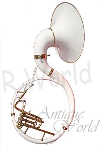 Antiques World Brass White & Gold Beautiful Professional Sousaphone AWUSAMI 0130 by Antiques World