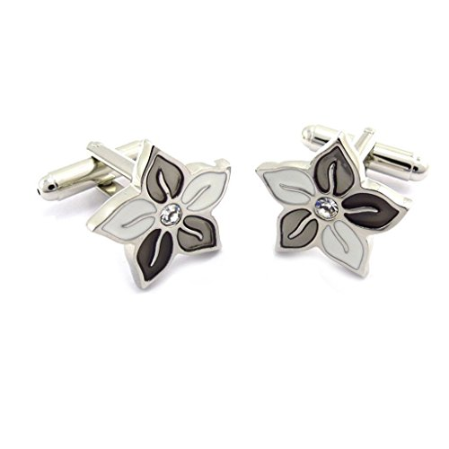 Cufflinks 'Vahine' silver-plated grey.