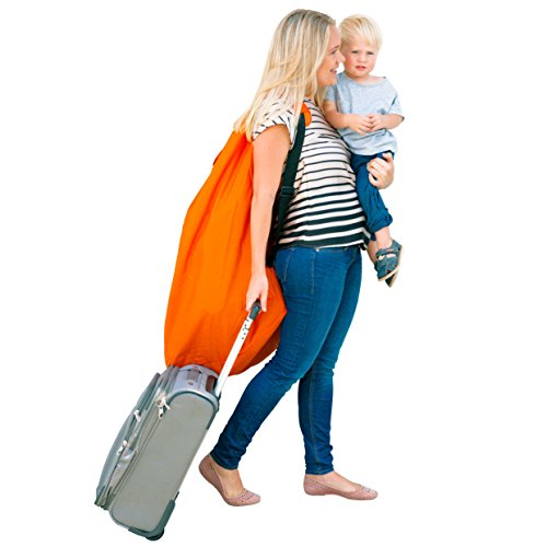 Car Seat Travel Bag -Make Travel Easier & Save Money. NEW IMPROVED Carseat Carrier for Airport - Protect your Child's CarSeats & Stroller from Germs & Damage. Easy Carry Padded Backpack by KangoKids (Image #3)