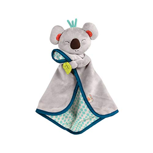 B. Toys - B. Snugglies - Fluffy Koko The Koala Security Blanket - Adorable Baby Blankie with Soft Fabric - Bpa Free