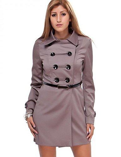 24brands Damen Mantel Jacken Trenchcoat Kurzmantel mit Knopfleiste - 1031