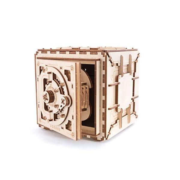 UGEARS Model Safe Kit | 3D Wooden Puzzle | DIY Mechanical Safe 4