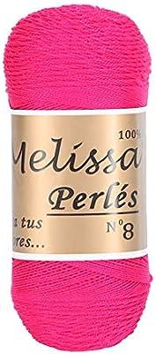 Melissa Perlés 8 - Hilo de Algodón para Ganchillo Hilado 100% Algodón para DIY y Tejer a Mano, Rosa 24, (75 g * 1 unidad): Amazon.es: Hogar
