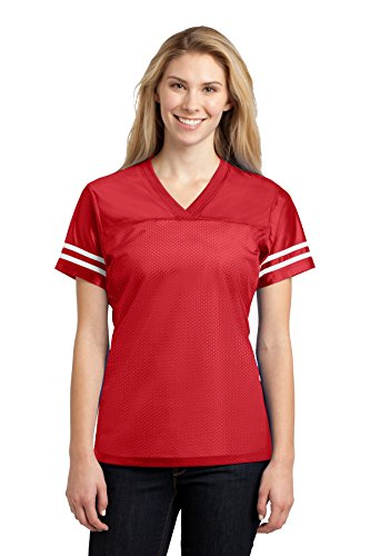 (Sport-Tek Women's PosiCharge Replica Jersey XL True Red/White)