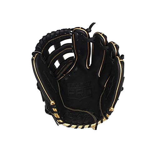 (Rawlings Select Pro Series 12.25`` H Web Fielders Glove Black/Gold LHT)