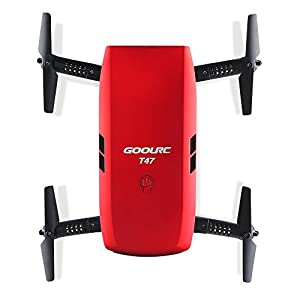 GoolRC T47 FPV Drone Foldable with Wifi Camera Live Video 2.4G 4 Channel 6 Axis Gravity Sensor RC Selfie Quadcopter RTF With Bonus Battery by GoolRC
