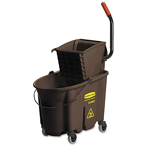 (Rubbermaid Commercial 758088BN Wavebrake 35 Quart Bucket/Wringer Combinations, Brown)