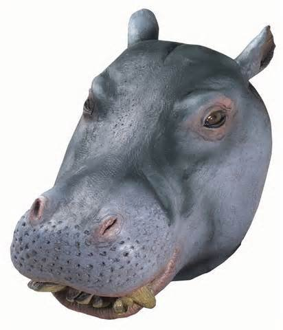 Realistic Masks Cheap (Hippo Mask : Deluxe Latex Animal Mask)