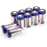 10 pcs Tenergy Propel CR2 3V Lithium Battery with PTC Protection