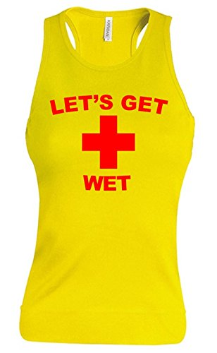 Traje de neopreno para mujer amarillo salvavidas chalecos de mujer Let's Get Wet