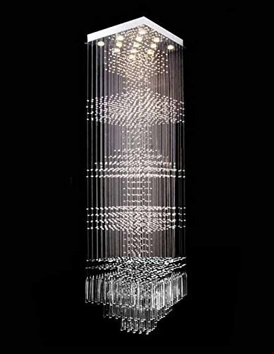 """Price comparison product image Siljoy W24"""" X H96"""" Pyramid K9 Crystal Chandelier Square & Balls Shaped"""