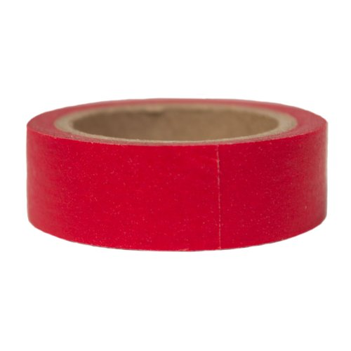 Washi Tape- Red (15 Mm Solid Tapes)