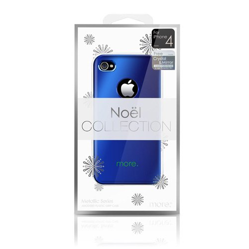 More Noel Collection Étui de protection pour iPhone 4 Bleu