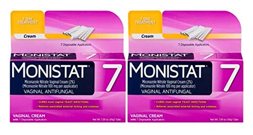 Monistat 7-Day Yeast Infection Treatment, Cream with Disposable Applicators, Pack of 2 from MONISTAT