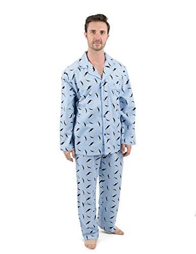 Leveret Mens Pajamas Flannel Pjs 2 Piece Christmas Pajama Set Penguin Size -