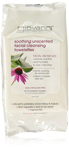 Giovanni Facial Cleansing Towelettes Fragrance Free 30 Count - 1 Each