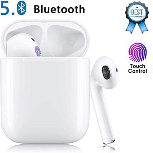 Wireless Earbuds Bluetooth Earbud Bluetooth Headphones 24Hrs Charging Case 3D Stereo IPX5 Waterproof Pop-ups Auto Pairing Fast Charging for iPhone Android