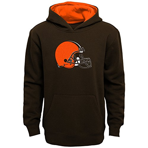 Outerstuff NFL Cleveland Browns Kids & Youth Boys Prime Pullover Fleece Hoodie, Brown Suede, Kids Medium(5-6)