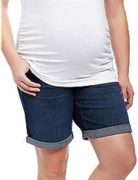 e71a212263c7c Motherhood Plus Size Secret Fit Belly Roll Hem Maternity Shorts